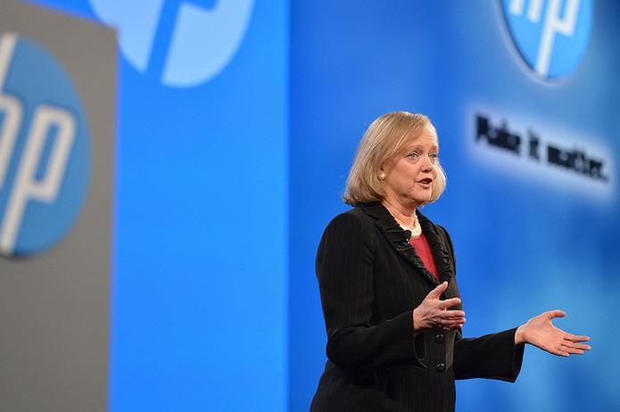 Meg Whitman, CEO da HP, anuncia que a empresa está investindo pesado na impressão 3D e vai anunciar sua primeira impressora em junho (Foto: Reprodução/Pocket-lint)