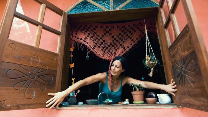 Federica Ilai diz que no Capão a viagem vai até você (Foto: TV Bahia)