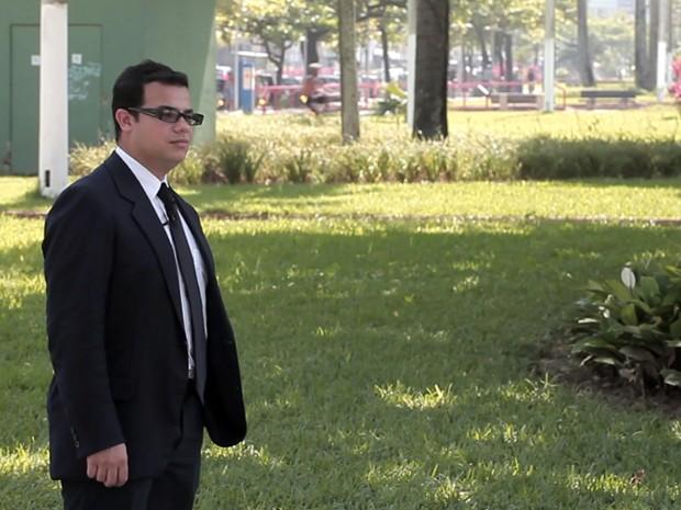 Danilo volta a orla de Santos, onde trabalhou como gari (Foto: Anderson Bianchi/Prefeitura de Santos)