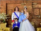 Wesley Safadão se transforma em príncipe em festa de 1 ano da filha