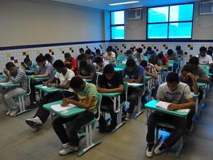 Exame Classificatório para 2.250 vagas  em cursos técnicos da instituição (Foto: Ellyo Teixeira/G1)