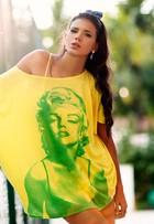 Jakelyne Oliveira, Miss Brasil 2013, mostra looks em ensaio de moda no clima da Copa do Mundo