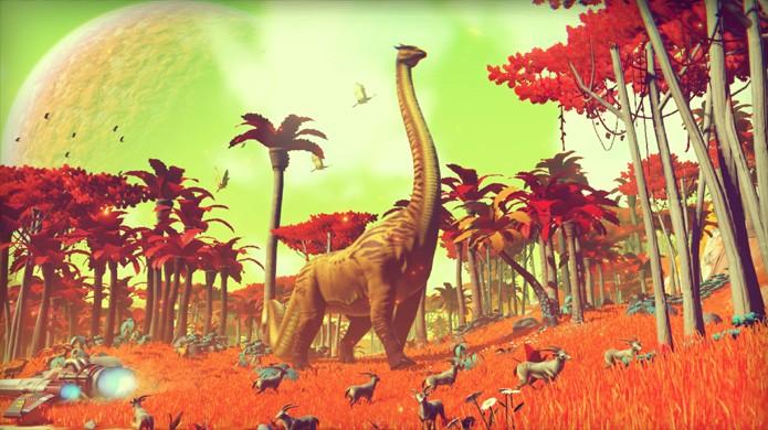 No Mans Sky promete trazer um universo gigantesco no PlayStation 4 (Foto: Divulgação)