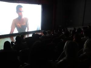 Duas sessões exibiram o mesmo filme simultaneamente (Foto: Micaelle Morais/G1)
