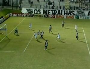 ABC x Figueirense, erro de árbitro assistente no gol de Rodrigo Silva (Foto: Reprodução/PremiereFC)