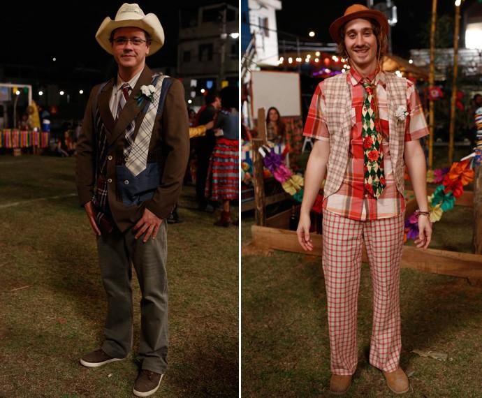 Olha que arraso os modelitos de Cícero (Danton Mello) e Tadeu (Giovanni Galo)  (Foto: Ellen Soares / Gshow)