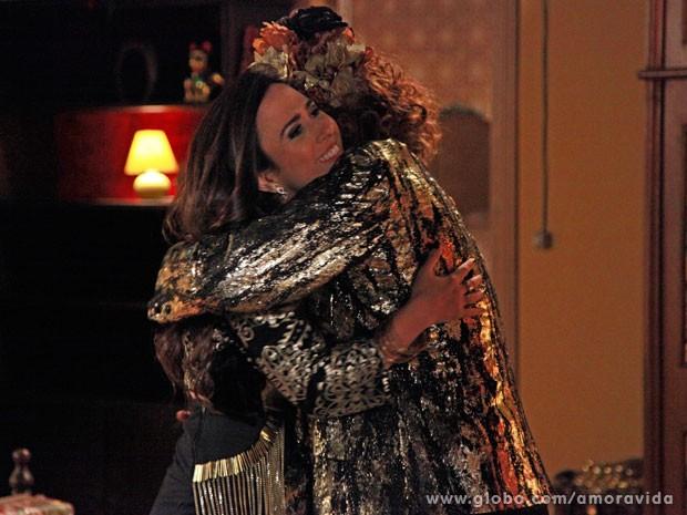 Márcia finacia o sonho da filha (Foto: Ellen Soares/ TV Globo)