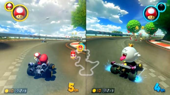 Conversões de Splatoon e Mario Kart do Wii U foram exibidas na revelação do Nintendo Switch (Foto: Reprodução/YouTube)