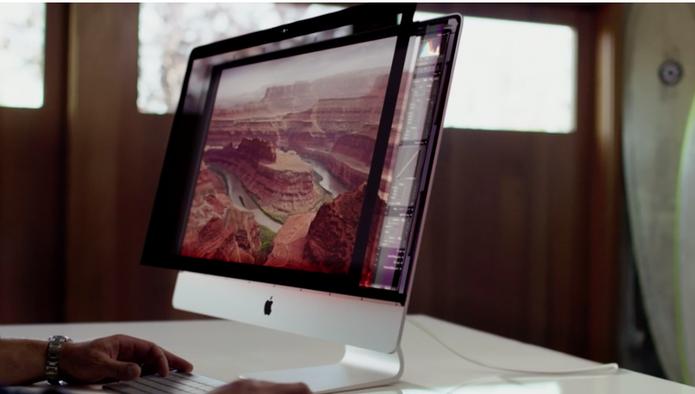 Novo iMac conta com tela Retina e resolução 5K (Foto: Reprodução)