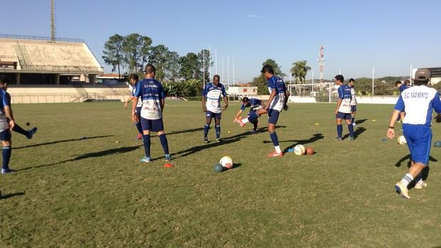 São Bento Sorocaba treino (Foto: Marcus Vinícius Souza)
