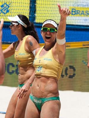 Larissa e Talita campeãs etapa fortaleza vôlei de praia brasileiro (Foto: Matheus Vidal/CBV)
