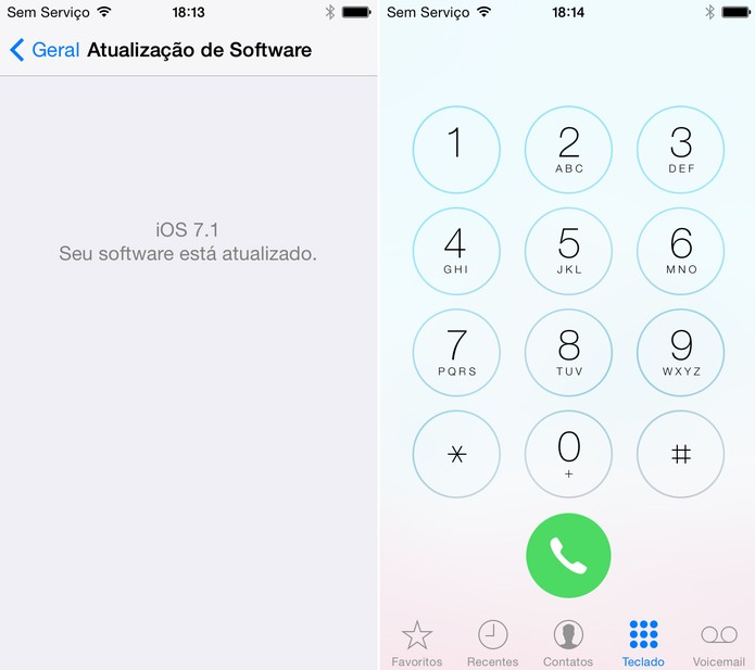 iPhone 5C atualizado para o iOS 7 (Foto: Isadora Díaz/TechTudo)