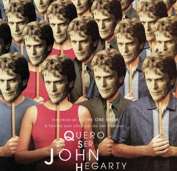 """Cartaz do prêmio internacional One Show, com o tema """"Eu quero ser John Hegarty"""", 2000 (Foto: divulgação)"""