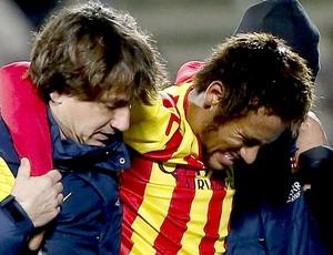Neymar machucado jogo Barcelona e Getafe (Foto: EFE)