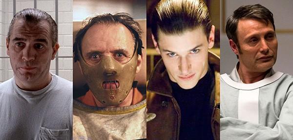 Brian Cox em Caçador de Assassinos (1986), Anthony Hopkins em Silêncio dos Inocentes (1991), Gaspard Ulliel em Hannibal - A Origem do Mal (2007), Mad Mikkelsen em Hannibal (2013-2015). (Foto: Divulgação)