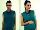 Fernanda Motta posa com a barriguinha de grávida: 'Eu e Chloe'