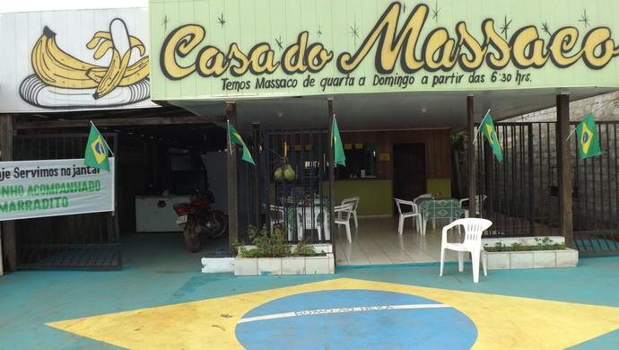 Lanchonete em Guajará-Mirim entra no clima de Copa do Mundo (Foto: Dayanne Saldanha)