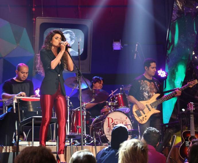 Paula Fernandes participa da gravação do programa Altas Horas (Foto: Carol Caminha/Gshow)