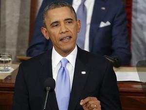 Obama faz discurso no Congresso dos Estados Unidos. (Foto: Charles Dharapak/AP)