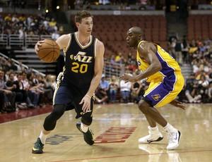 Gordon Hayward e Kobe Bryant, Jazz x Lakers - AP