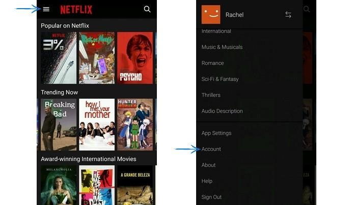 Menu do Netflix em inglês (Foto: Reprodução/Raquel Freire)