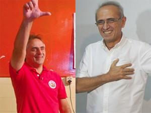Luciano Cartaxo e Cícero Lucena vão disputar o segundo turno (Foto: Montagem/G1)