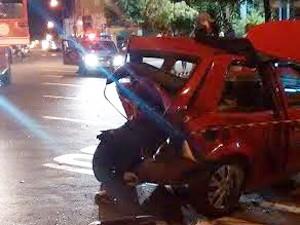 O Corpo de Bombeiros foi acionado e os motoristas encaminhados ao Pronto Atendimento de Dracena (Foto: Ermenson Rodrigues/Panorama Notícia)