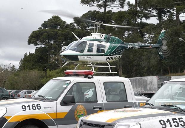 Helicóptero da Secretaria de Segurança do Paraná (Foto: Divulgação/SSPR)