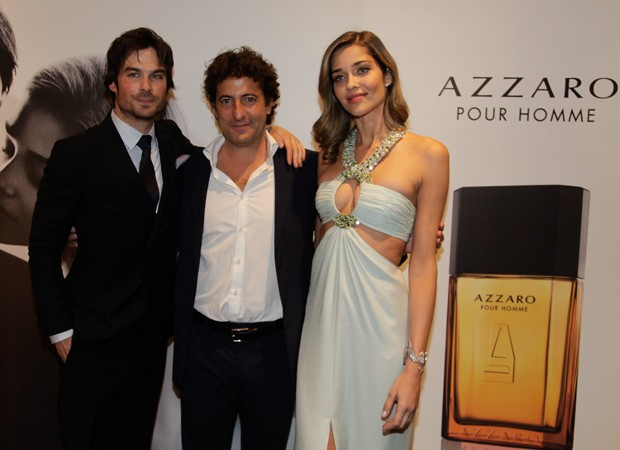 Ian Somerhalder, Pedro Escudero e Ana Beatriz Barros (Foto: Marcos Rosa/Ed.Globo)