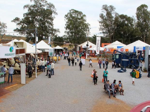 Confira em imagens como foi o último dia da feira do café em Três Pontas (MG) (Foto: Hécio Rafael)