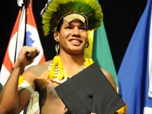 Lennon Corezomaé será o primeiro indígena a cursar mestrado na UFSCar (Foto: Lidiane Volpi/UFSCar)