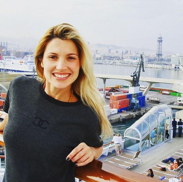 Flávia Alessandra em foto de 2006 postada por Otaviano Costa (Foto: Reprodução / Instagram)