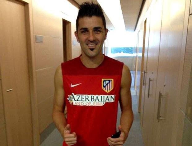 David villa atlético de madrid exames médicos (Foto: Reprodução / Facebook)