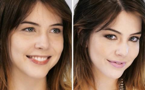 Maquiagem sem pincel: Torquatto ensina dicas para a atriz Bia Arantes