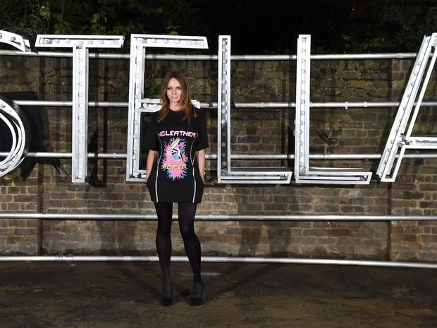 Stella McCartney em evento de moda em Londres, na Inglaterra (Foto: Ben Stansall/ AFP)