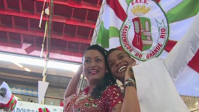 Integrantes da Grande Rio (Foto: Reprodução/TV Tribuna)