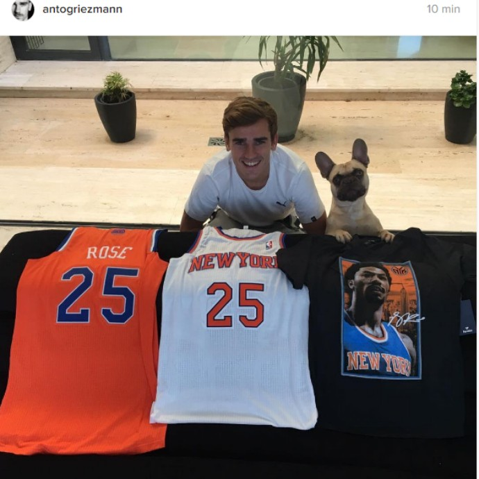 "BLOG: Griezmann se rende ao New York Knicks: ""É por isso que assisto à NBA"""