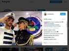 Claudia posa com marido e mostra figurino na BA: 'Amor é patente alta'
