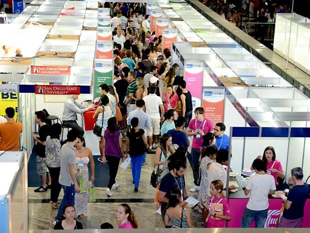Brasília recebe feira internacional de intercâmbio nesta quinta-feira (12) (Foto: Eduexpo/Divulgação)