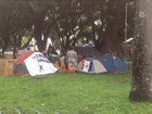 Manifestantes contra impeachment de Dilma acampam no Recife