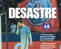 """Jornais catalães estampam vexame em Paris: """"Isso não é o Barça"""""""