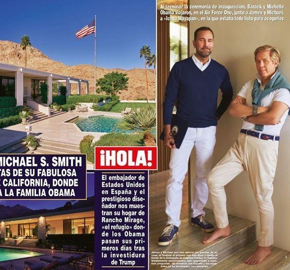 Revista Hola! mostra a casa onde Barack e Michelle Obama estão hospedados (Foto: Reprodução)