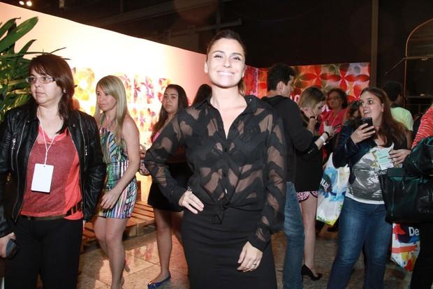 Giovanna Antonelli no Fashion Rio Inverno 2014 (Foto: Thyago Andrade  / FotoRioNews)