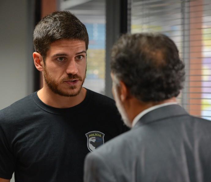 Dante alinha a prisão de Gibson com delegado Fonseca  (Foto: Pedro Carrilho/ Gshow)