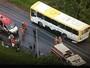 Sete pessoas ficam feridas em acidente grave com ônibus no DF