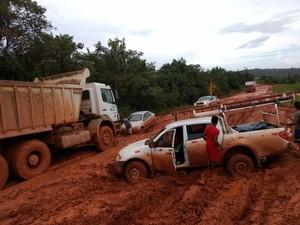 amapá; macapá; oiapoque; calçoene; br-156; atoleiro; lama; (Foto: Isan Oliveira/Arquivo Pessoal)