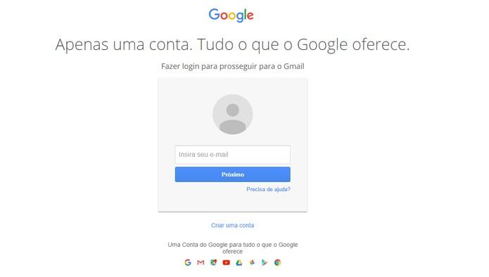 f3b79885b Configure para acessar o Gmail sem precisar ficar digitando a senha (Foto   Reprodução