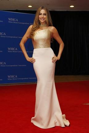 Sofia Vergara em jantar na Casa Branca, em Washington, nos Estados Unidos (Foto: Jonathan Ernst/ Reuters)