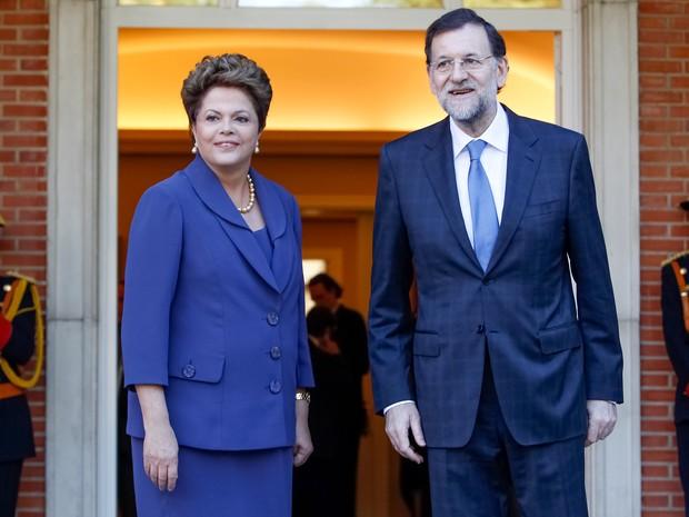 DIlma Rousseff chega para reunião com Mariano Rajoy, presidente do governo Espanha, no Palácio de Moncloa, em Madri. (Foto: Roberto Stuckert Filho/PR)