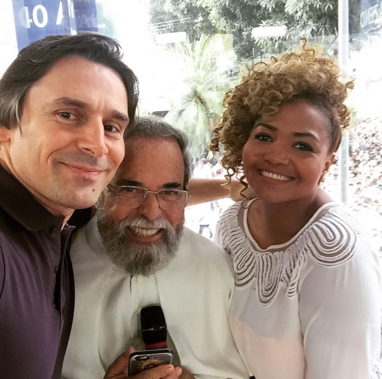 Murilo Rosa, padre Antônio Maria e Gaby Amarantos (Foto: Reprodução/Instagram)